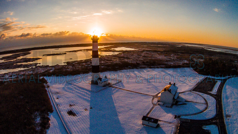Bodie Island Lighthouse Snow 03