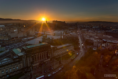 Edinburgh from the Nelson Monument