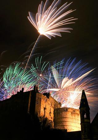 Edinburgh Fringe Festival Fireworks - Grassmarket