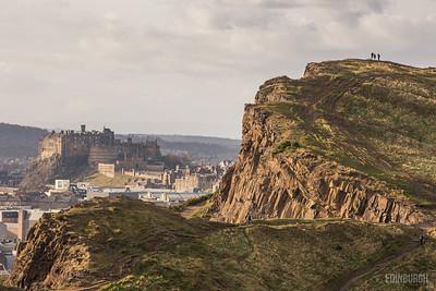 Salisbury Crags & Edinburgh Castle