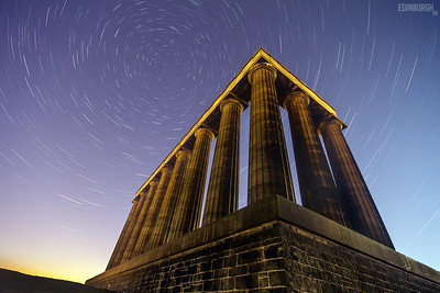 Startrails Over the National Monument