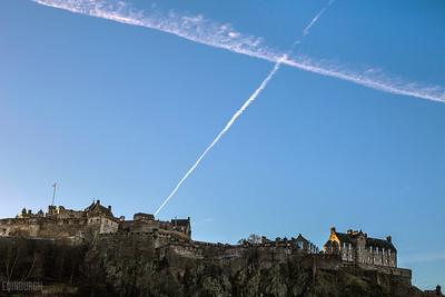 Edinburgh Castle Saltire