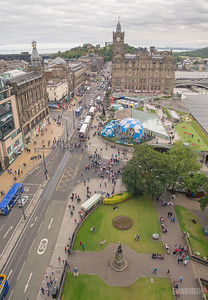 Looking East from the Scott Monument