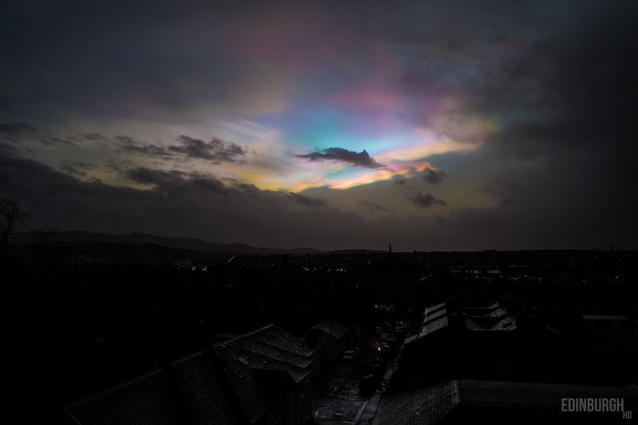 Nacreous Clouds Over Newington