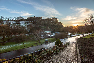 Princes Street Gardens Sunset