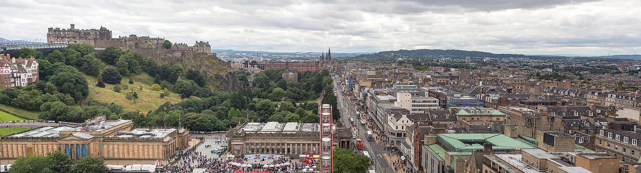 Panorama of Edinburgh from the Scott Monument