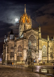 St Giles Cathedral by Moonlight