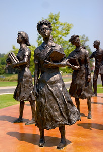 The Little Rock Nine statue outside of the Governor's Mansion Ernest Green (b. 1941), Elizabeth Eckford (b. 1941), Jefferson Thomas (b. 1942), Terrence Roberts (b. 1941), Carlotta Walls LaNier (b. 1942), Minnijean Brown (b. 1941), Gloria Ray Karlmark (b. 1942), Thelma Mothershed (b. 1940), and Melba Beals (b. 1941). Ernest Green was the first African American to graduate from Central High School.