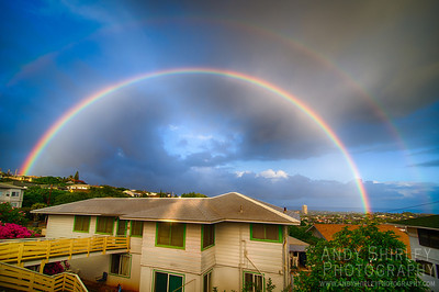 Rainbow over my neighborhood in Honolulu