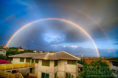 Rainbow over my neighborhood in Honolulu