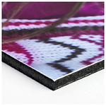 Gatorfoam Mount your prints on this rigid black foamboard to add durability and prevent warping and damage. Note: Gatorfoam is slightly thicker and lighter in weight than the Styrene backing.