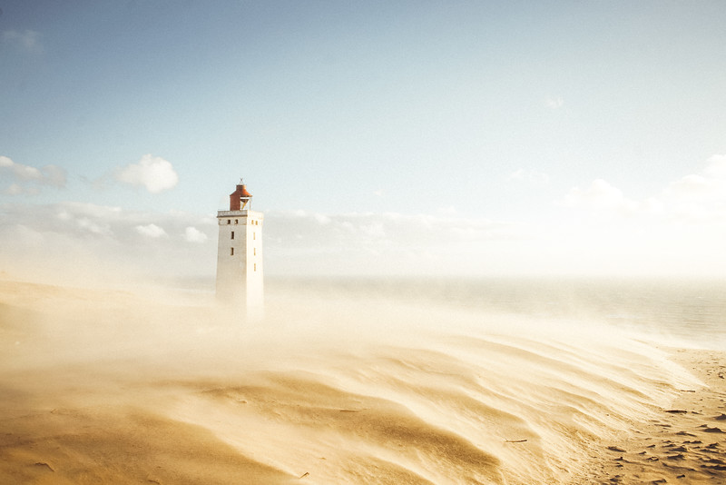 Rubjerg Knude Lighthouse, Denmark.