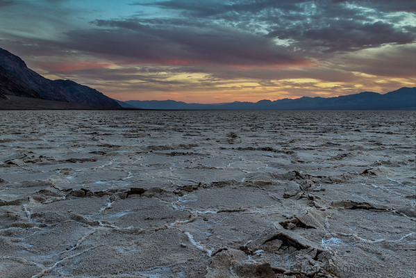 Badwater, Death Valley Sunset