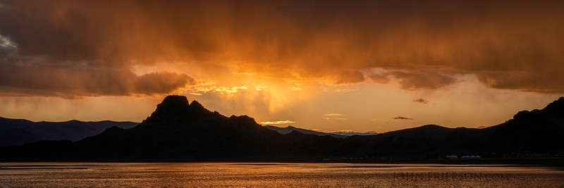 Sunset, Lake Tolbo, Mongolia