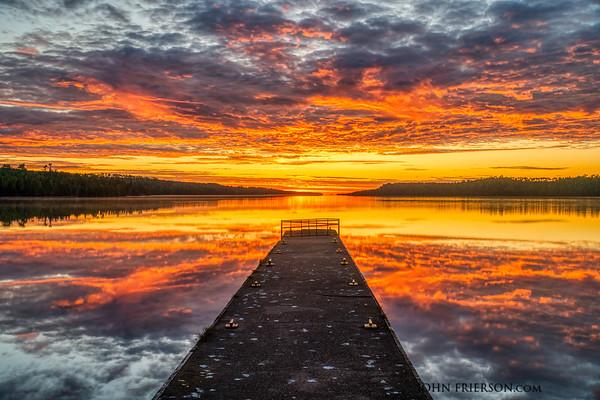 Sunrise, Moskey Basin Pier