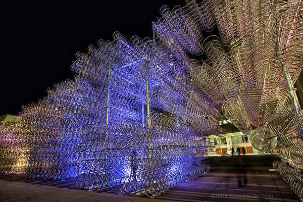 """""""Forever Bicycles"""" sculpture by Ai WeiWei, Toronto"""
