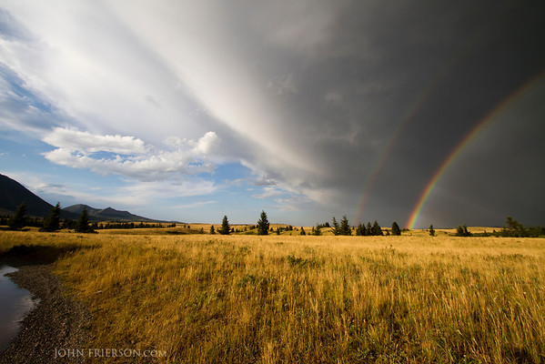 Double Rainbow in Waterton Lakes National Park, Canada
