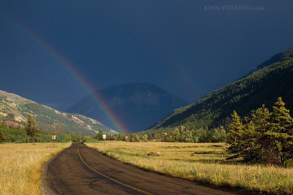 Rainbow in Waterton Lakes National Park, Canada