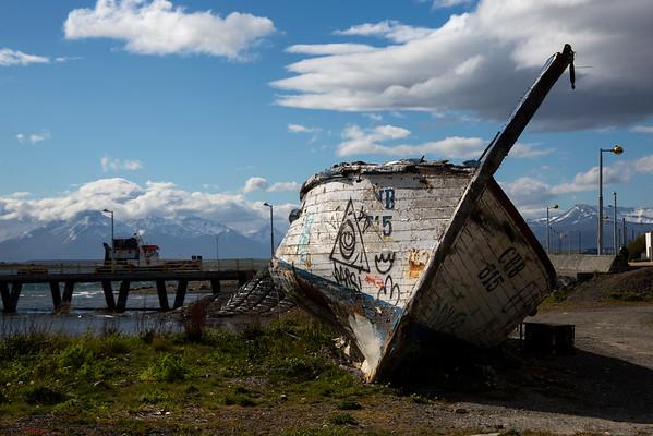 Abandoned Ship, Puerto Natales, Chile