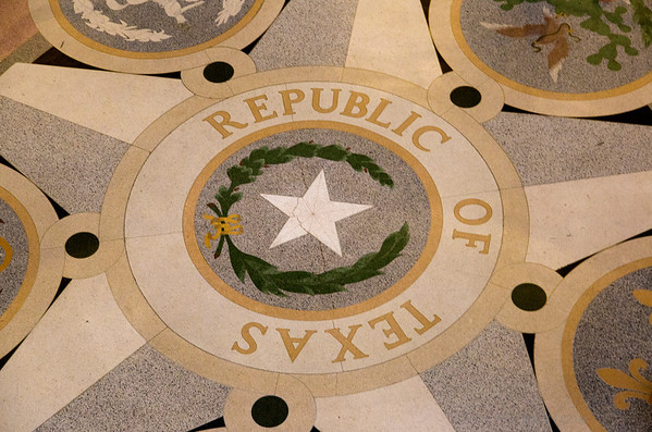 Floor of the Texas State Capitol Rotundra