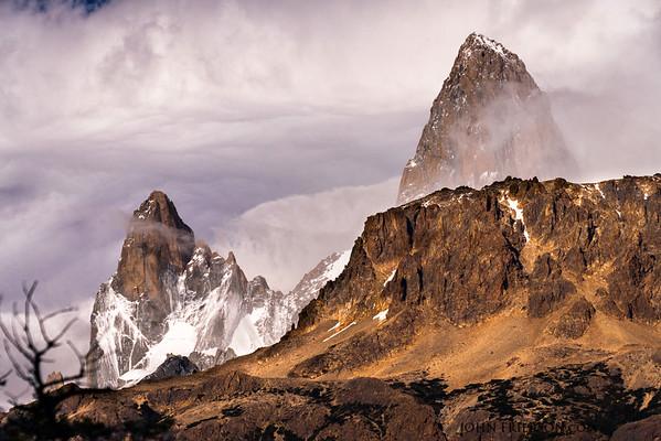 Clouds Clear Revealing Patagonia Peaks