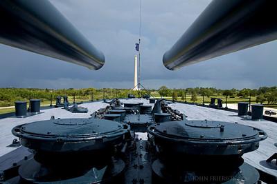 Battleship Texas and the San Jacinto Monument