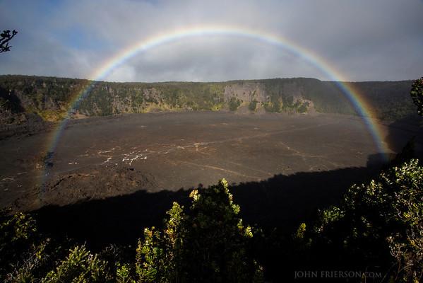 Rainbow at Hawaii's Volcanoes National Park