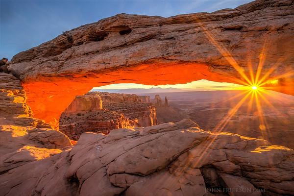 Sunrise at Mesa Arch, Canyonlands, Utah