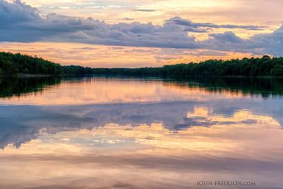 Sunset at Rainy Lake, Minnesota