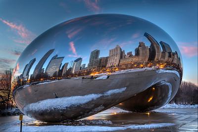 Winter Sunrise at Cloud Gate, Chicago