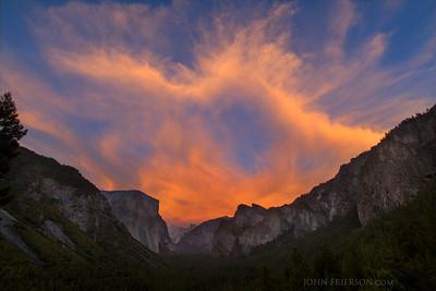 Tunnel View Sunset, Yosemite National Park