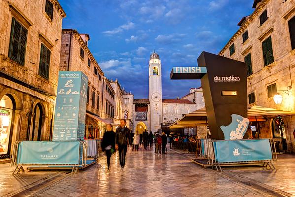Dubrovnik Half Marathon Finishline.