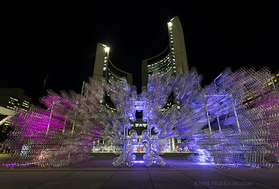"""Ai Weiwei's """"Forever Bicycles"""" sculpture in front of Toronto's City Hall"""