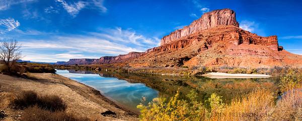 Panorama of Colorado River near Moab