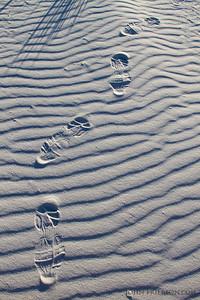 Footsteps at White Sands