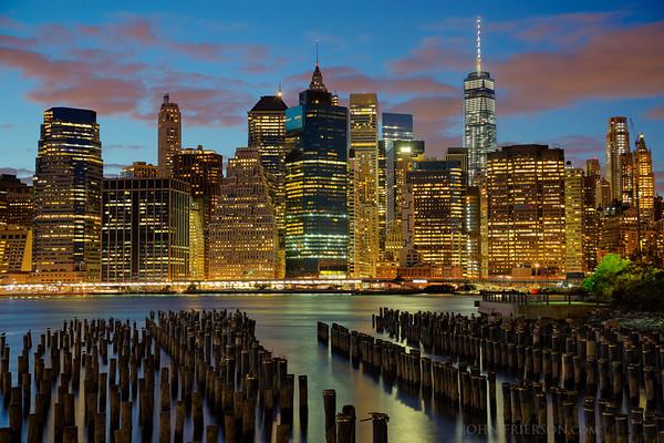 Manhattan Skyline from the Brooklyn Pier