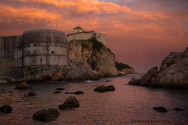 Sunset with Faint Rainbow, Dubrovnik Croatia II