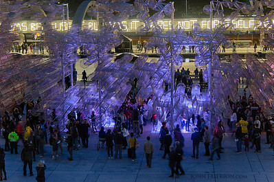 Nuit Blanche art exhibits, Toronto.