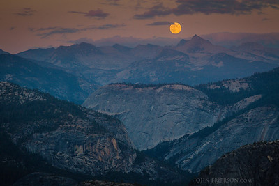 Moonrise at Glacier Point, Yosemite National Park