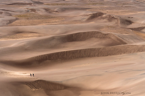 Hikers in Great Sand Dunes National Park