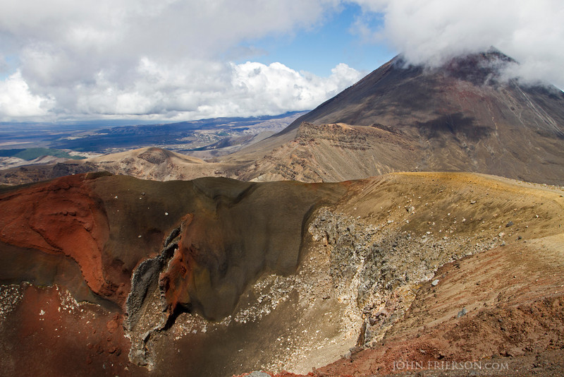 Red Crater in Tongariro National Park, New Zealand