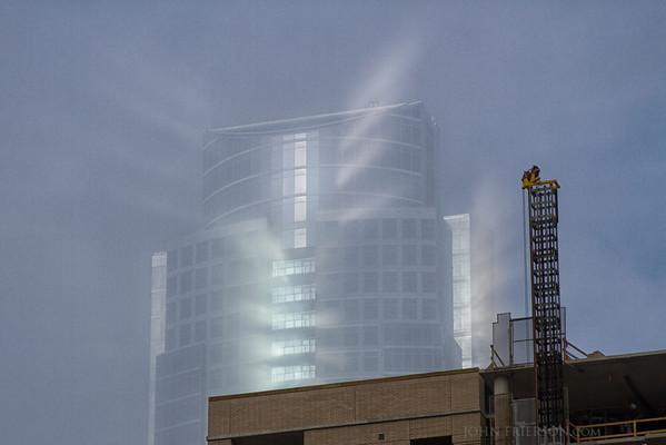 Fog lifting in Austin, Texas