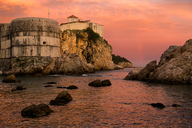 Sunset with Faint Rainbow, Dubrovnik Croatia