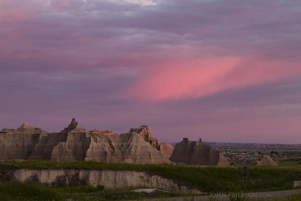 Sunrise in Badlands National Park, South Dakota.