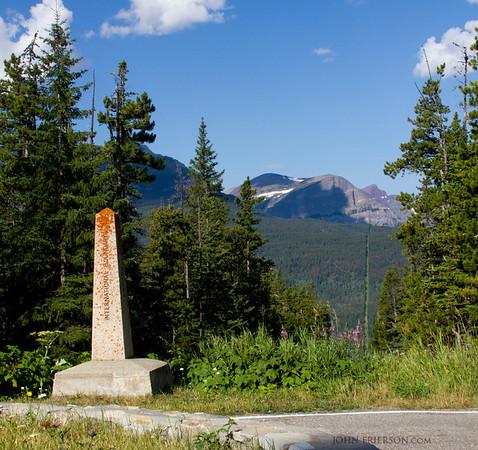 U.S Canadian Border, Glacier National Park