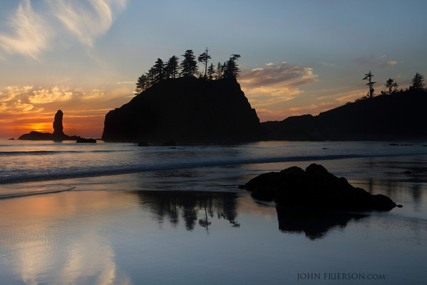 Sunset at Second Beach, Olympic National Park