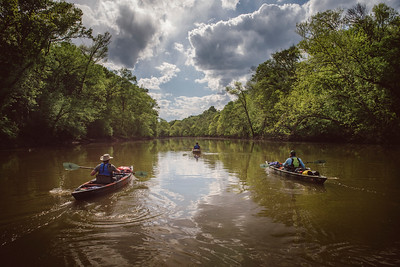 Paddlers on the Cape Fear