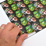 """Photo Stickers Your photo prints with excellent color reproduction on twenty (20) 1.6 x 2.25"""" stickers All the stickers come on one sheet, and are pre-cut.  These stickers are a great way to add a personalized touch to your greetings or to label your children's belongings."""