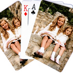 "Photo Playing Cards High-quality laminated poker deck. Finished size is:  2.5 x 3.5"" Playing cards have excellent color reproduction. Each deck comes in a sturdy clear plastic case."