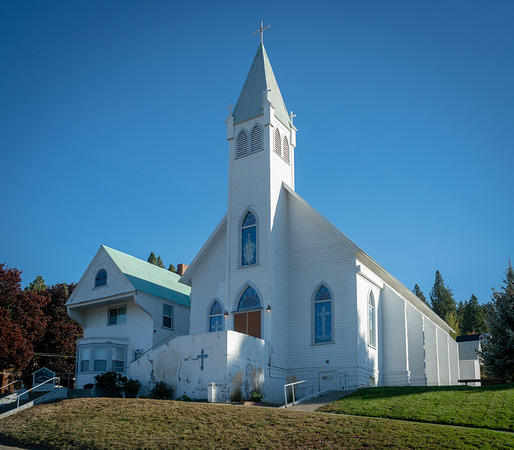 Immaculate Conception Catholic Church in summer